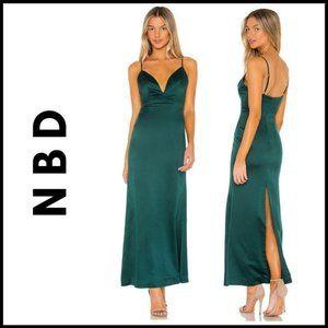 NWT NBD Emerald Green Corona Full Length Gown, S